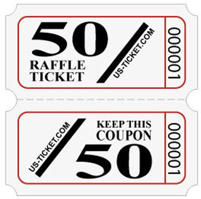 standard 5050 raffle tickets