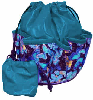 Deluxe Butterflies and Flowers Bingo Bag