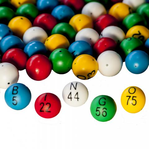 BINGO BALL- 5 COLOR PLASTIC