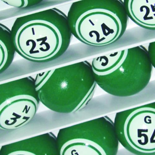 Green Double Number Bingo Balls