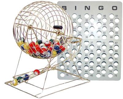 Bingo Game Supply Vinyl Bingo Cage Balls Master Board