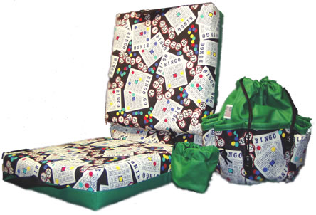 Deluxe Bingo Card Pattern Cushion And Bag Set