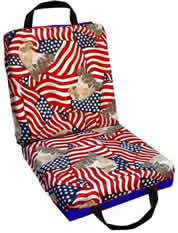 Deluxe Patriotic Bingo cushion