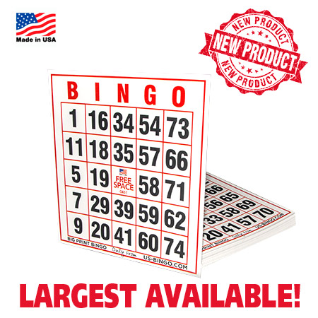 Extra Jumbo Size Easy Read Bingo Cards