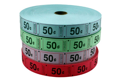 Standard 50 Cent Roll Tickets