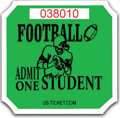 Premium Student Football Roll Ticket