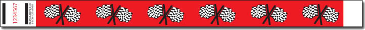 Checkered Flag Tyvek  Wristband