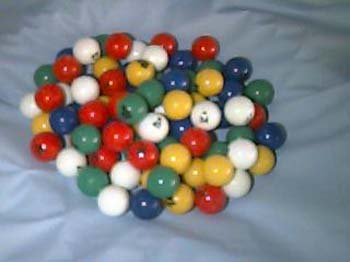 Bingo Ball- 5/8 Inch 5 Color Plastic