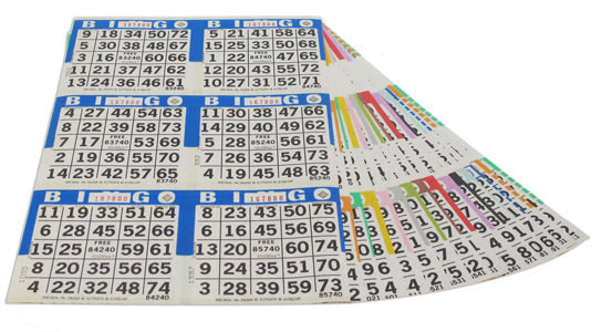 6 ON 15 UP Bingo Paper