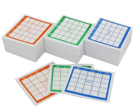 Blank Bingo Cards Item Number Ubp