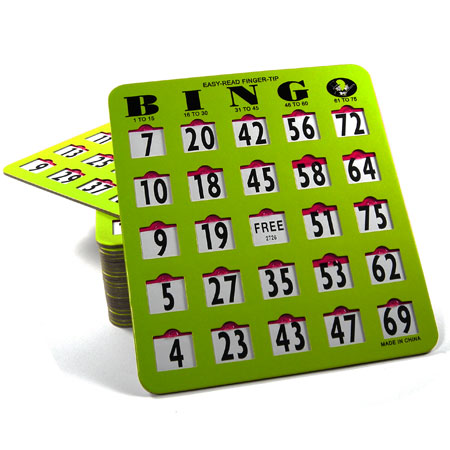 Easy-Read Finger-Tip Bingo Slide Card