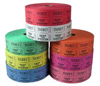 Roll Tickets, Ticket Rolls, Custom Tickets, 2 part, Double Roll ...